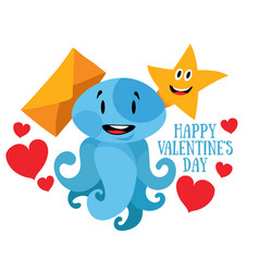 happy valentines day love message vector image vector image
