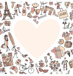 i love france sketch for your design vector image vector image