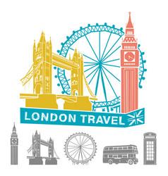 london travel vector image