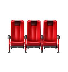 Row of cinema seats vector