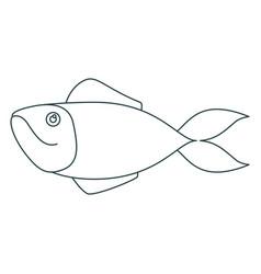 monochrome contour of salmon fish vector image