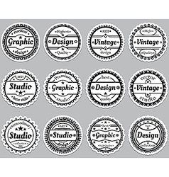 Set old fashioned icons Premium design graphic vector image vector image