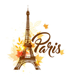autumn paris background vector image vector image