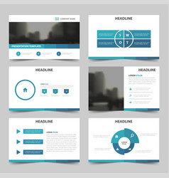 blue abstract multipurpose presentation vector image vector image