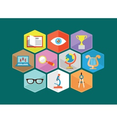 Flat composition of educations components vector image vector image