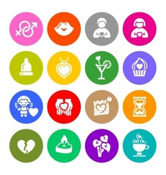 Set valentines day buttons love romantic symbols vector image vector image