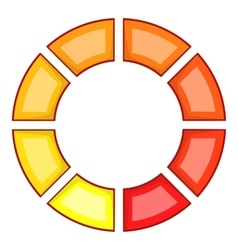 Abstract color circle icon cartoon style vector
