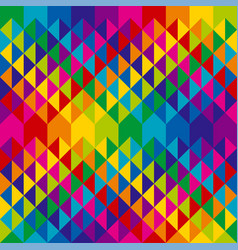 abstract colorful triangles repeatable motif vector image