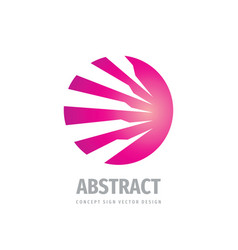 abstract development business - concept logo vector image