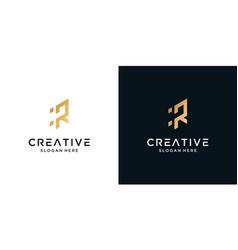 Abstract letter r logo design vector
