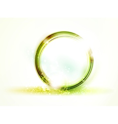 abstract round green frame vector image