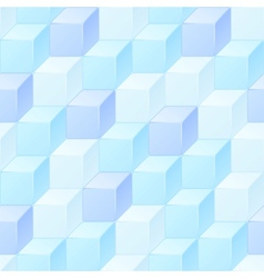 Abstract seamless pattern of cubes vector image