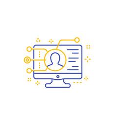 affiliate marketing icon line vector image