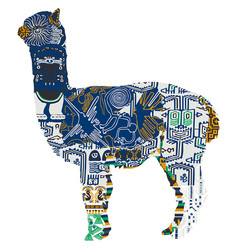 animal symbolizing peru vector image