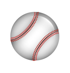 ball baseball isolated icon vector image
