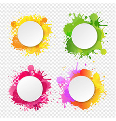 Banner with blobs transparent background vector