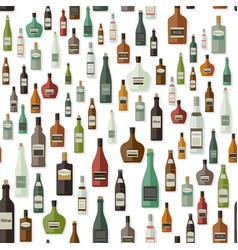 bottles pattern drinks vector image