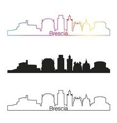 Brescia skyline linear style with rainbow vector