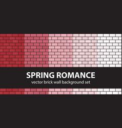 brick pattern set spring romance seamless brick vector image