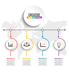 Business concept timeline infograph template vector
