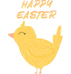 chicken easter cute character happy easter vector image