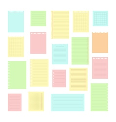 Collection of various note papers for your message vector image