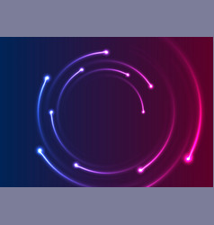 colorful neon spiral lines abstract background vector image