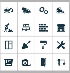 construction icons set collection of measure tool vector image