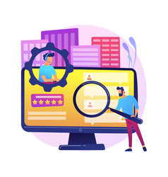 customer self-service abstract concept vector image