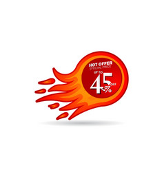 Discount up to 45 off hot offer special price vector