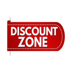 Discount zone banner design vector