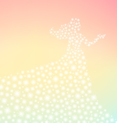fairy tale lady sparkling silhouette vector image vector image