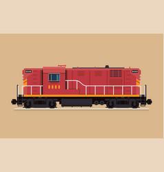 Flat design railway locomotive freight train vector