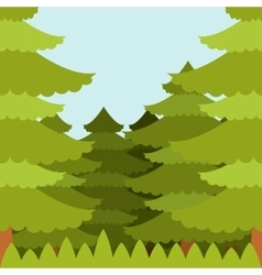 Forest flat Background vector image