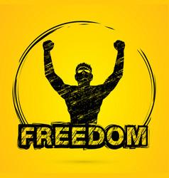 Freedom man winner graphic vector