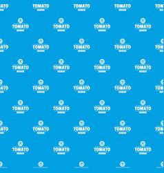 Gmo free tomato pattern seamless blue vector