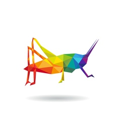 Grasshopper abstract isolated vector image
