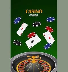 green casino online concept background realistic vector image