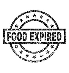 Grunge textured food expired stamp seal vector