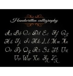 Handwritten Calligraphy Font vector image