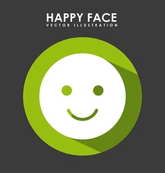 happy face design vector image