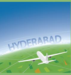 Hyderabad flight destination vector