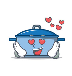In love kitchen character cartoon style vector