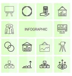 infographic icons vector image