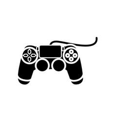 Joystick console icon black vector