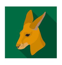 kangaroo icon in flat style isolated on white vector image