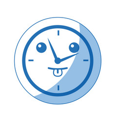 Kawaii round clock time hour business object icon vector