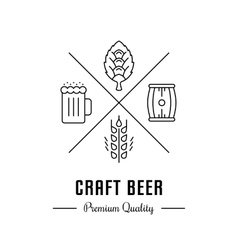 Logo Craft Beer vector image