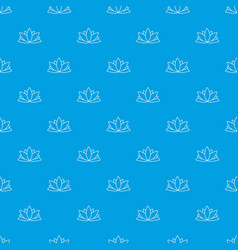 lotus flower pattern seamless blue vector image