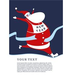 Lucky Santa vector image